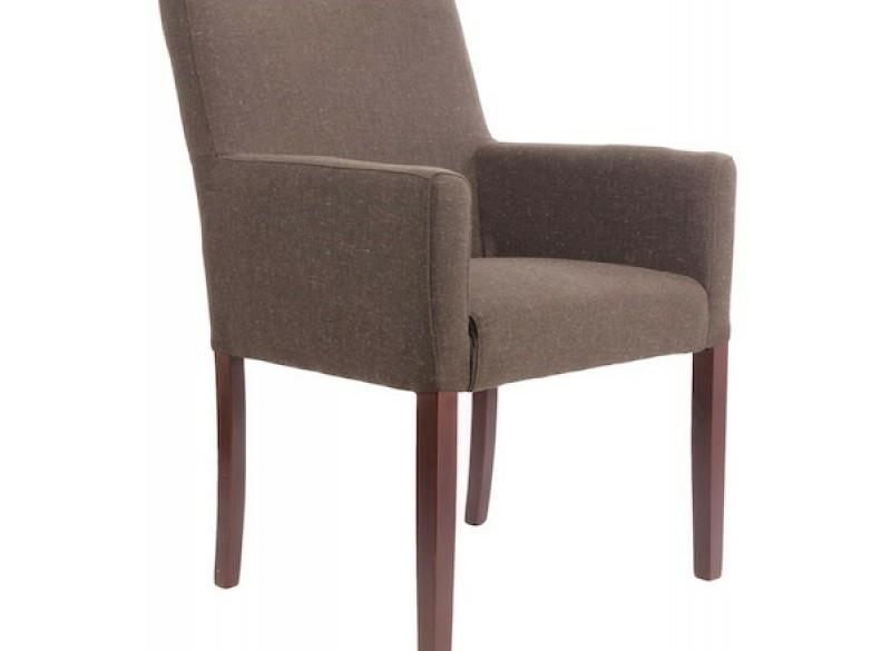 Comfortabele stoel, extra breed bruin stof