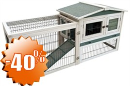 Konijnenhok met ren Knabbel 155x53x70 €87,95 SALE