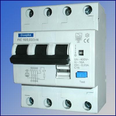 Doepke aardlekautomaat 30mA 4-polig 16A / 3+N