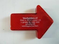 veiligheidslampje in pijlvorm, rood, Nieuw, met clip,6.5 cm