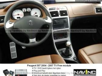 NavInc: Peugeot 307 RT3-N3 TV vrijschakeling