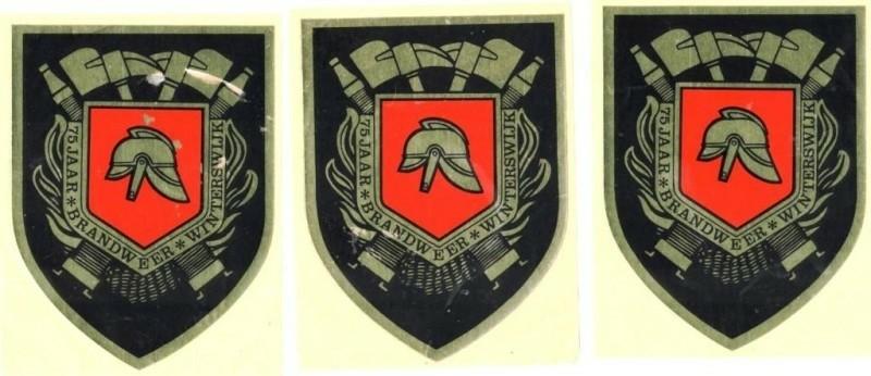 3 stickers 75 jaar brandweer Winterswijk,1979,gst