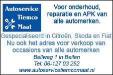 Autoservice Tiemco Maat, onderhoud, reparatie, APK