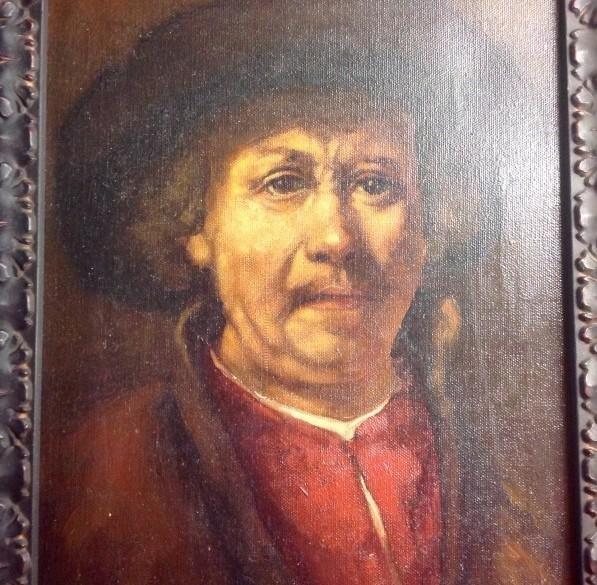 Olieverfschilderij Rembrandt zelfportret door J.v. Cappelo