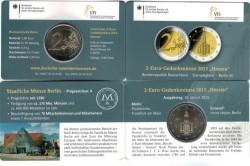 Duitsland 2 Euro 2015 Coincard Hessen Pauluskerk Letter A