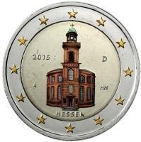 Duitsland 2 Euro 2015 Hessen Gekleurd