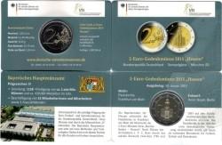 Duitsland 2 Euro 2015 Coincard Hessen Pauluskerk Letter D