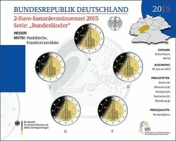 Duitsland 2 Euro 2015 Hessen Pauluskerk BU Serie van 5