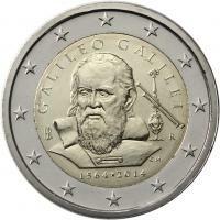Italië 2 Euro 2014 Galileo Galilei