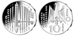 Duitsland 10 Euro 2014 Fahrenheit Skala