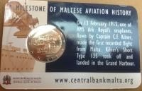 Malta 2 Euro 2015 -100 jaar Vlieggeschiedenis- Coincard