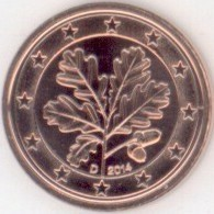 Duitsland 1 Cent 2014 D
