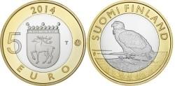 Finland 5 Euro 2014 Natuur Aland Zeearend