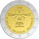 België 2 Euro 2008 60e herdenkingsdag van de Mensenrechten