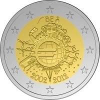 België 2 Euro 2012  10 Jaar Euro