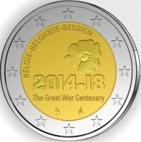 België 2 Euro 2014 Eerste Wereldoorlog