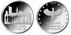 Duitsland 10 Euro 2015 Leipzig 1000 Jaar