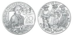 Oostenrijk 20 Euro 2015 Mozart Wonderkind