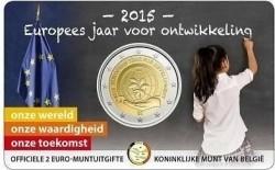 België 2 Euro 2015 Europees Jaar voor Ontwikkeling Coincard