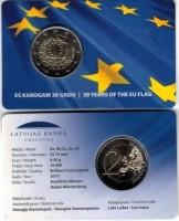 Letland 2 Euro 2015 - 30 Jaar Europese Vlag - Coincard