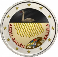 Finland 2 Euro 2015 Akseli Gallen Kallela Gekleurd