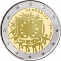 Slovenië 2 Euro 2015 30 Jaar Europese Vlag