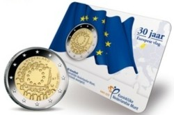Nederland 2 Euro 2015 -30 jaar Europese vlag- Coincard