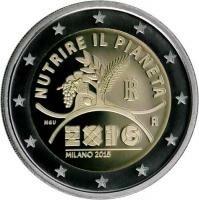 Italië 2 Euro 2015 Expo Milaan
