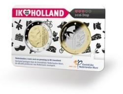 Nederland 2 Euro 2016 Coincard Nr. 3 Ik hou van Holland - D…