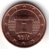 Malta 2 Cent 2015 UNC