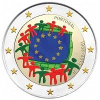 Portugal 2 Euro 2015 30 jaar Europese vlag Gekleurd