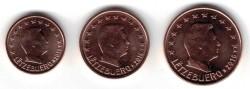 Luxemburg 1 cent en 2 cent en 5 cent 2016