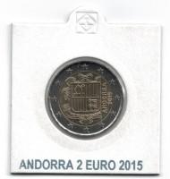 Andorra 2 Euro 2015 UNC Normaal