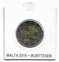 Malta 2 Euro 2016 Ggantija Tempels + Muntteken Hoorn des Ov…