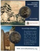 Malta 2 Euro 2016 Ggantija Tempels in Coincard