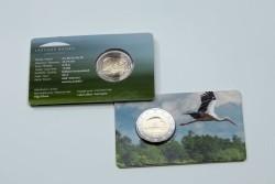 Letland 2 Euro 2015 Coincard Zwarte Ooievaar