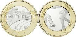 """Finland 5 Euro 2015 """"Kunstschaatsen"""" UNC"""