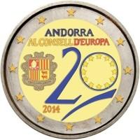 Andorra 2 Euro 2014 20 jarig Lidmaatschap Raad van Europa G…