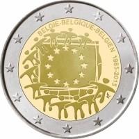 Belgie 2 Euro 2015 30 Jaar Europese Vlag