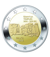 Malta 2 Euro 2016 Ggantija Tempels