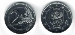Letland 2 Euro 2016 Vidzeme Verzilverd