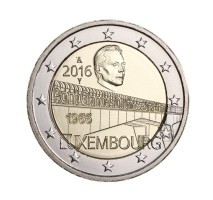 Luxemburg 2 Euro 2016 Groothertogin Charlottebrug