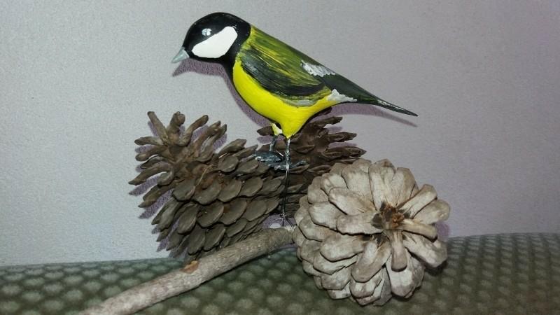 Mooie, houten geschilderde vogeltjes te koop
