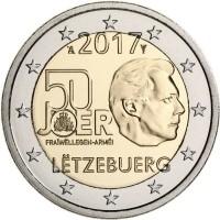 Luxemburg 2 Euro 2017 50 Jaar Vrijwillig Leger