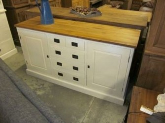 Dressoir White Wash Teak Blad