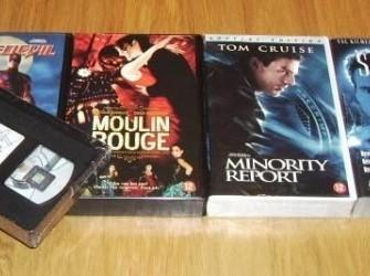 Te koop diverse nieuwe speelfilms op VHS.