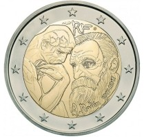 Frankrijk 2 Euro 2017 Auguste Rodin