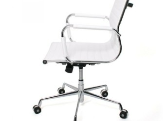 bureaustoel design wit lage rugleuning