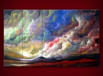 """Nieuw Schilderij """"Magic"""" Olieverfschilderij Canvas"""