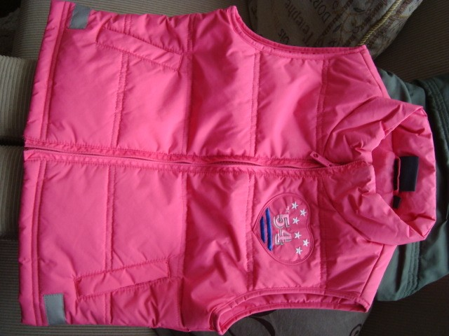 Roze bodywarmer